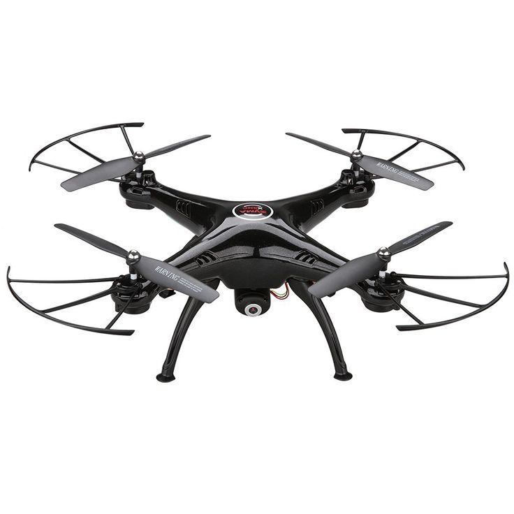 Syma X5HC - Drone Quadcopter RC con Barómetro 6 Axis Gyro (2.0MP HD Cámara, sin Cabeza, Luz de LED, 4 Canales, 360 ° Tirones, Vuelo Nocturno) (Negro): Amazon.es: Juguetes y juegos