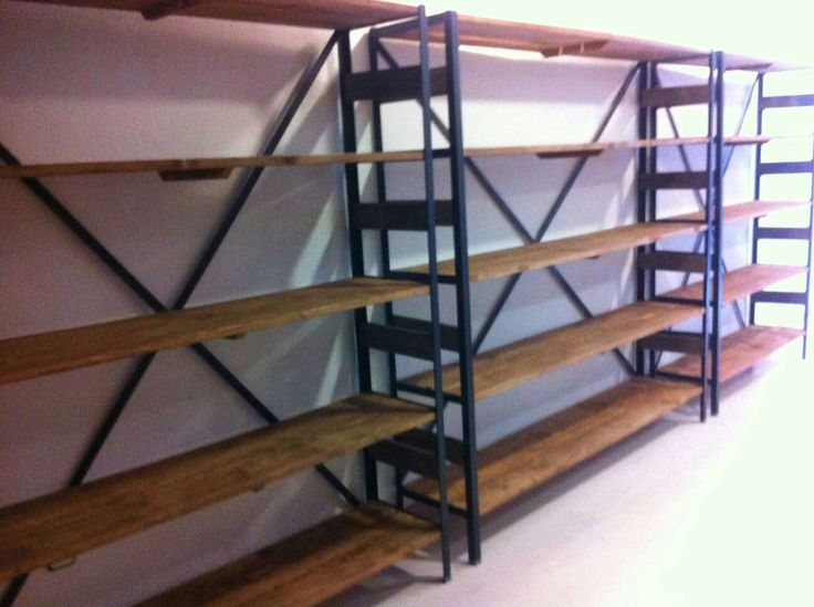 En hierro y madera cualquier acabado pide presupuesto - Estanterias para bares ...