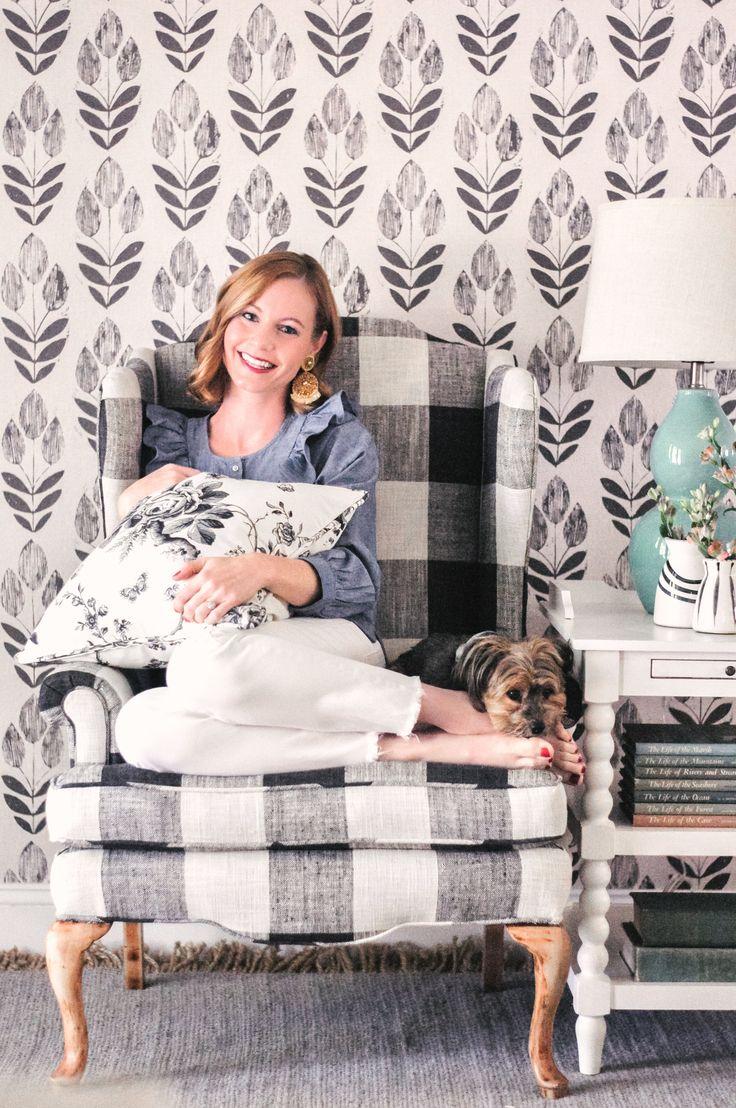 Our Farmhouse Living Room Makeover + Our Buffalo Check Chair! | Black & White Farmhouse Decor | Scandinavian Farmhouse | Home Decor