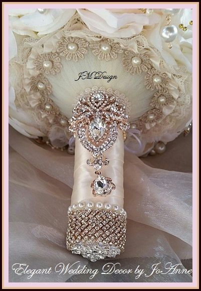 Blush rosa broche ramo depósito para este por Elegantweddingdecor