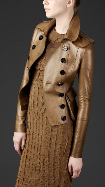 A statement jacket you'll wear again and again and again. #Burberry $3,595