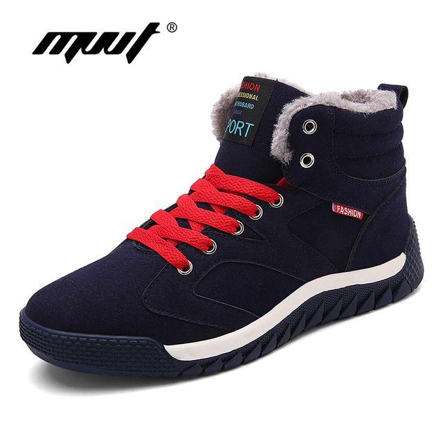 Hot Sale $22.98, Buy MVVT Super Warm Winter Boots Men Snow Boots With Fur Keep Warm Platform Men Winter Snow Shoes Waterproof Ankle boots