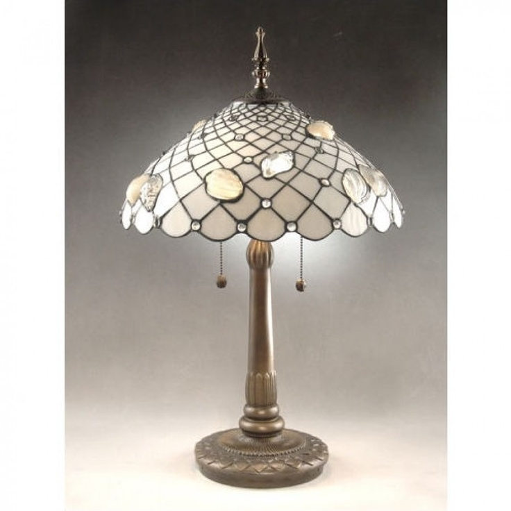 Dale Tiffany Lamps Tiffany Shells  Table Lamp in Antique Brass - TT60055