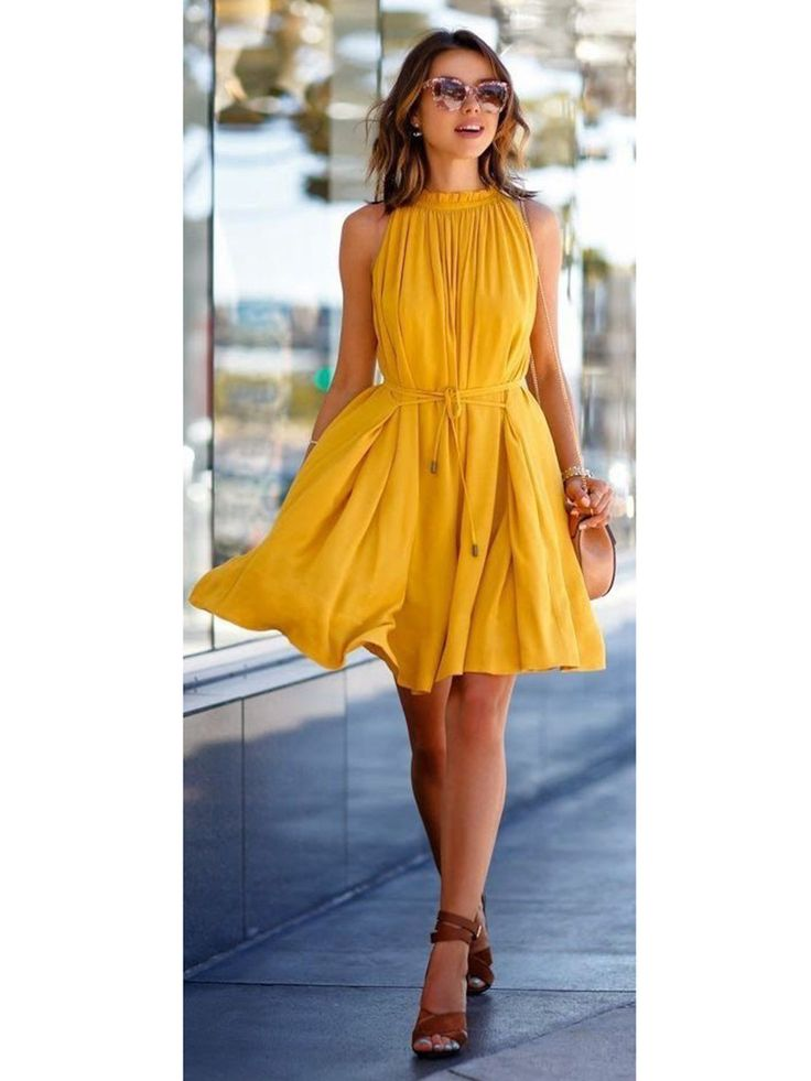 Best 25 Yellow summer dresses ideas on Pinterest  Yellow dress outfits Yellow style and Girls