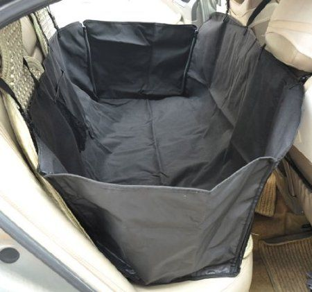 Amazon.com: Pawhut Deluxe Pet Travel Hammock / Back Seat Cover for Dogs / Cats - Black: Pet Supplies