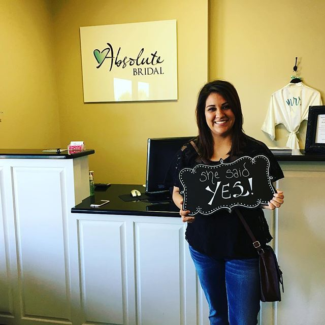 SHE SAID YES!! Congratulations to Yuri Bueno... We at Absolute Bridal are so happy for you and wish you all the love in your upcoming marriage!! * * * #shesaidyes #absolutebridalmidland #midlandwedding #dressesofthepermianbasin #happybride #happybridehappylife #bridetobe #tyingtheknot #cheerstothedress #absolutebride #inlovewithlove #happybridehappylifeabsolutebridalmidland #absolutelythedress