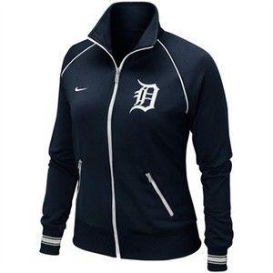 Woman's Detroit Tigers Baseball Jacket ~ Nike