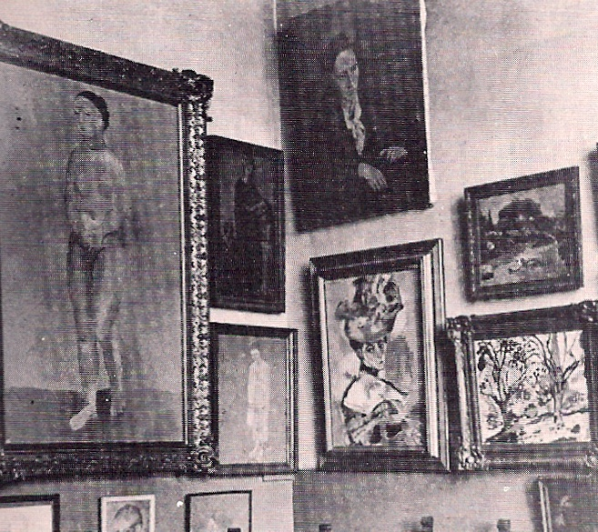 Gertrude Stein's salon, 6th Arrondissement, Paris, 1907. (from Kiki's Paris by Billy Kluver and Julie Martin)