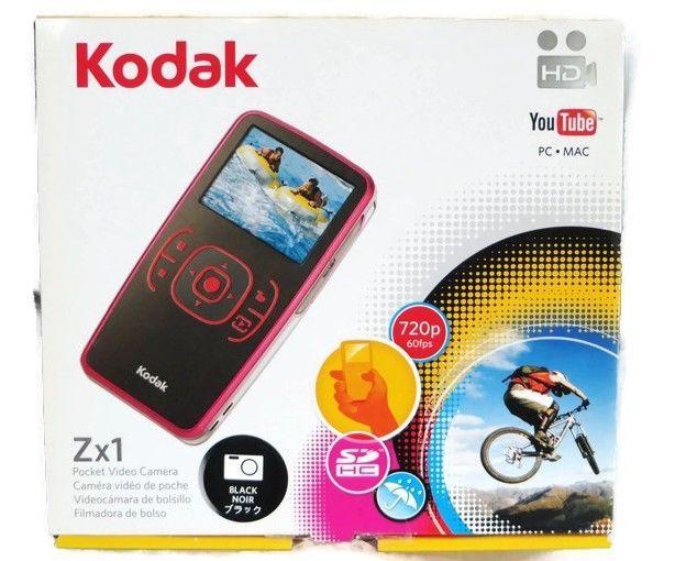 Kodak Zx1 HD Pocket Video Camera Black New #Kodak