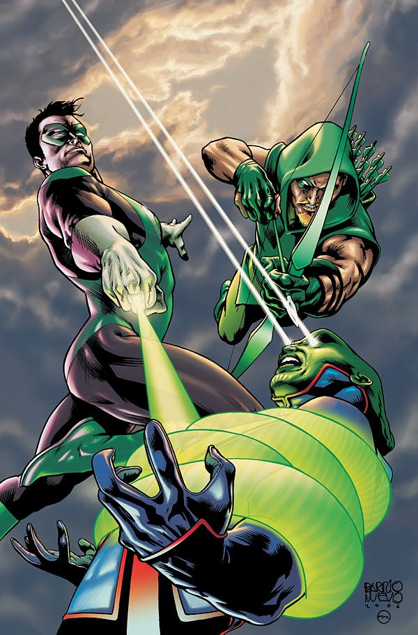 Martian Manhunter vs. Green Lantern & Green Arrow - Al Barrionuevo