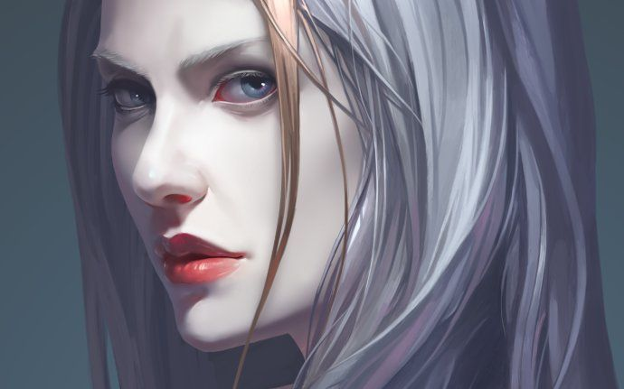 drawing white haired witch warrior - Google Search | stuff ...  drawing white h...