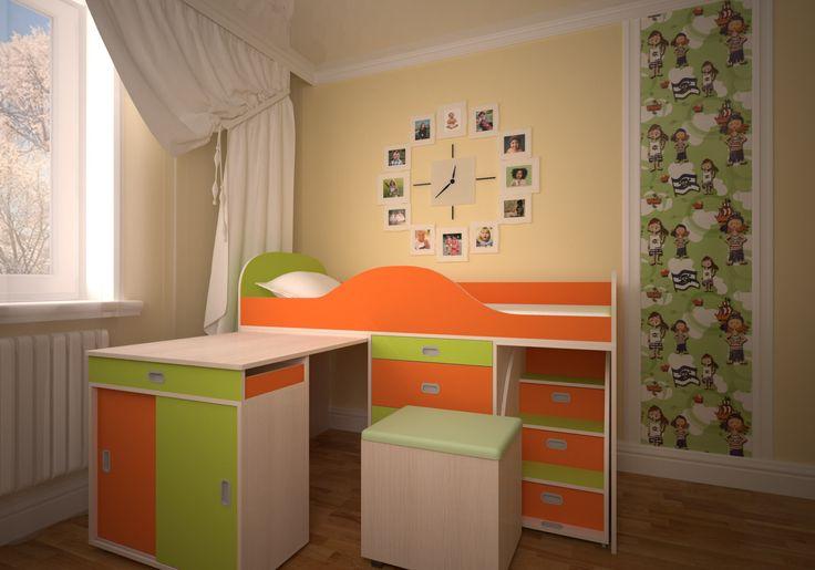 Кровать чердак Малыш Люкс  Детская Кровать чердак Малыш ЛЮКС - это улучшенная версия стандартной кроватки Малыш, для более требовательных покупателей.    В комплектацию детской мебели Малыш Люксвходит удобная кроватка, вместительный комод, выдвижной столик с ящиком и торцевым шкафом, а также удобная банкетка. Отсутствие острых углов с использованием кромки АБС 1мм исключает возможность травмирования детей в процессе эксплуатации. Качество мебели обеспечивается использованием высокоточного…