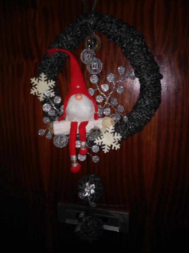 Skandináv manó karácsonyi kopogtató