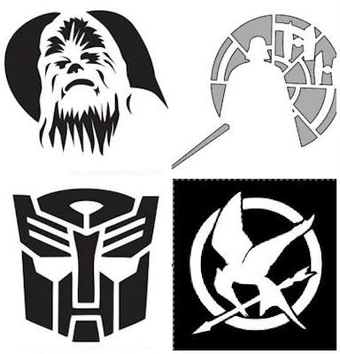Geek stencils for t-shirts, tote bags, quilts....