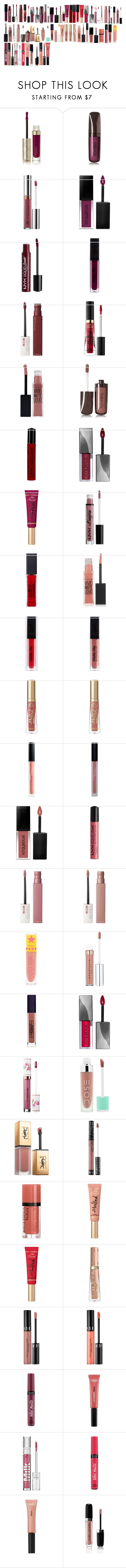 """""""liquid lipsticks"""" by azra-99 on Polyvore featuring beauty, By Terry, Hourglass Cosmetics, Anastasia Beverly Hills, Smashbox, Charlotte Russe, Maybelline, Too Faced Cosmetics, NYX and Huda Beauty"""