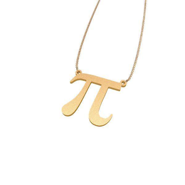Pi Symbol 3D printed Zazzy necklace