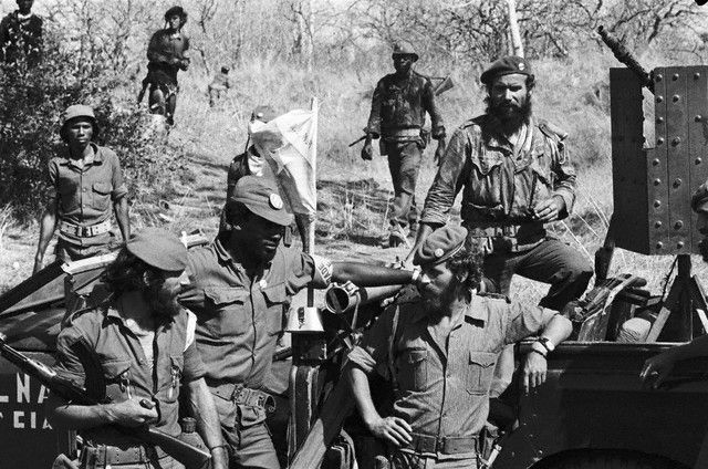 Portuguese Mercenaries and FNLA troops after the abortive attack on Luanda (Rueters).