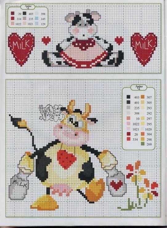 Cute cow cross stitch