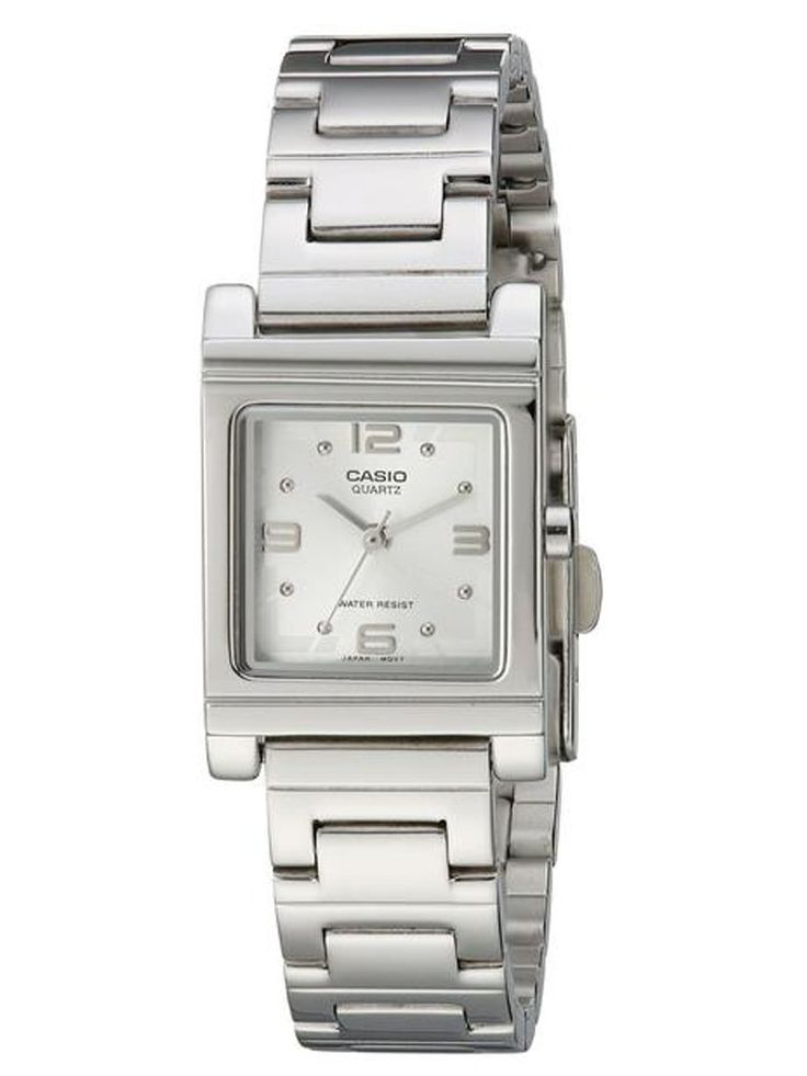 Casio Silver Tone Shell White Dial Women's Watch   Watches