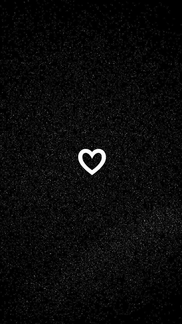 Iphone Black Heart Wallpaper Hd