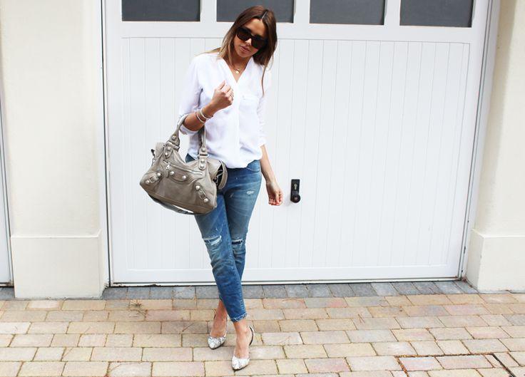 Zara White Cotton Blouse 103