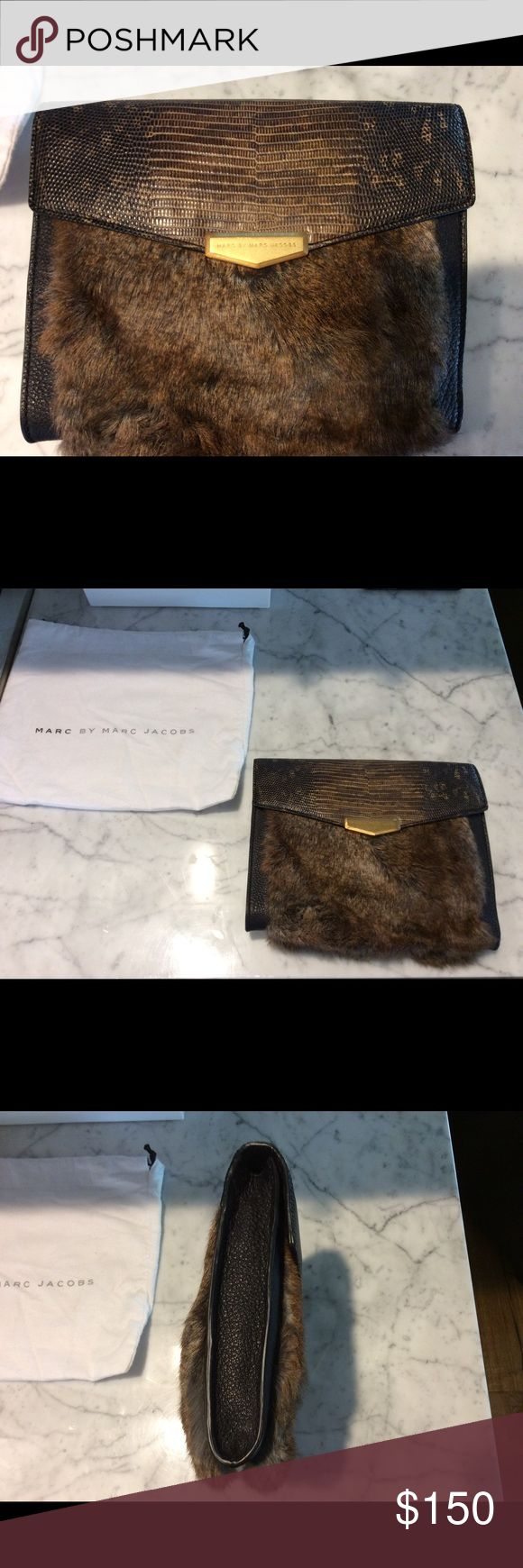 Marc by Marc Jacobs fur clutch Brand new never been used Marc by Marc Jacobs clutch. Tags and everything Marc by Marc Jacobs Bags Clutches & Wristlets