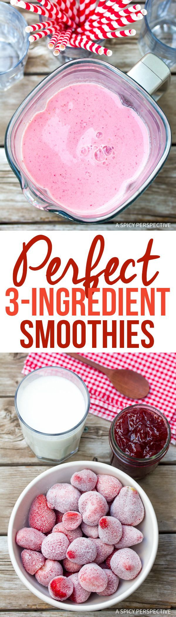 Perfect 3-Ingredient Simple Strawberry Smoothies Recipe