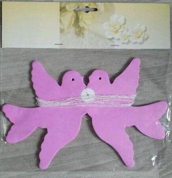 ≥ Duivenslinger roze 4m. Licht roze slinger papieren duiven. - Feestartikelen - Marktplaats.nl