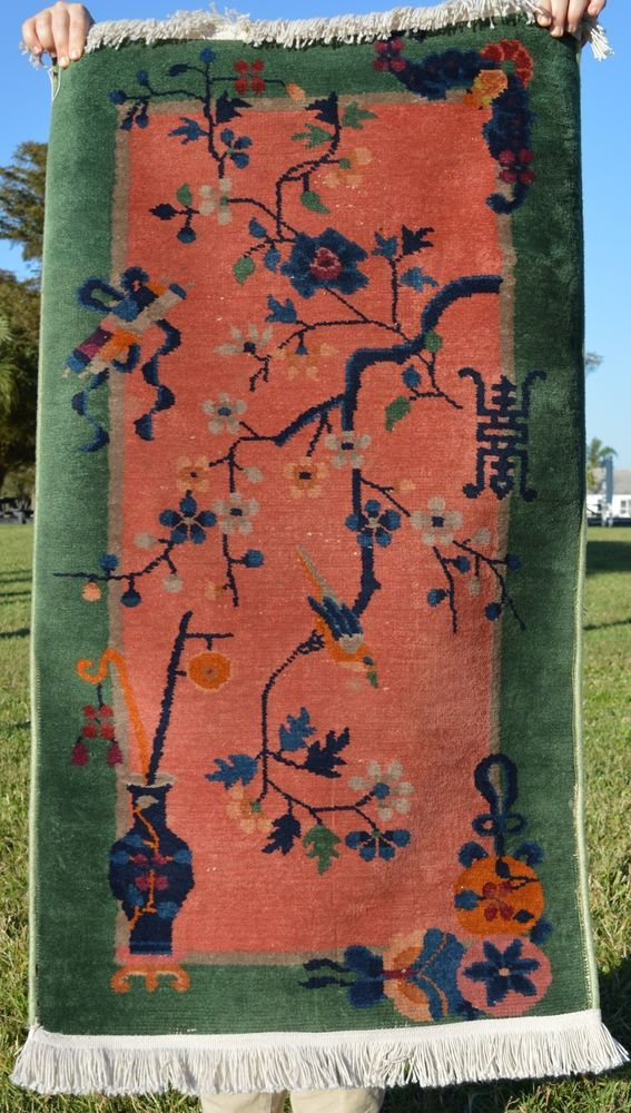 Antique Chinese Small Art Deco Wool Area Rug Dreamy Rugs Pinterest And