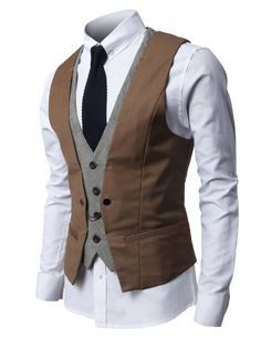 H2H Mens Fashion Business Suit Vest with Layered Style 4 Buttons Point Chain Rings BROWN L (JVSK05) H2H,http://www.amazon.com/dp/B00CFCXCY2/ref=cm_sw_r_pi_dp_RLmktb0RXRP32B6S