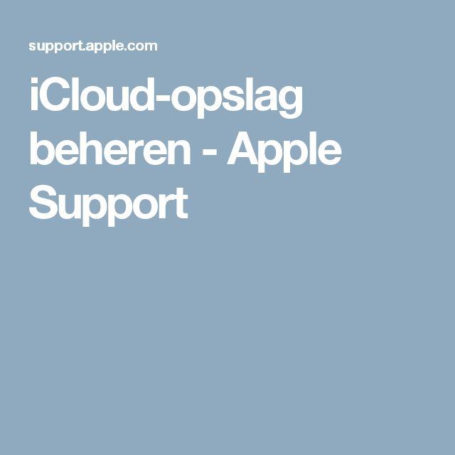 iCloud-opslag beheren - Apple Support