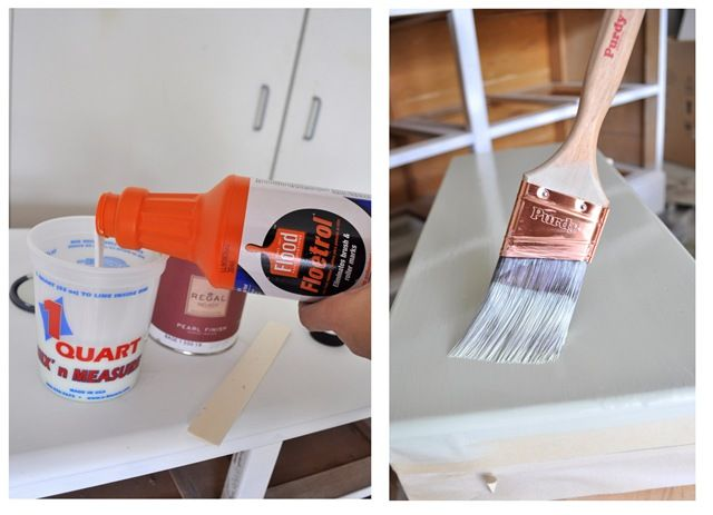 Floetrol. This product in the orange bottle is a paint conditioner exclusively for latex paint (use Penetrol for oil based paints). It's a product I have used time and again to extend the wet edge (or slow down the drying time) and also to minimize roller marks and brush strokes.