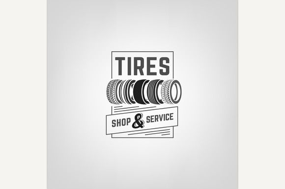 Tires Shop Logo by Double Brain on @creativemarket