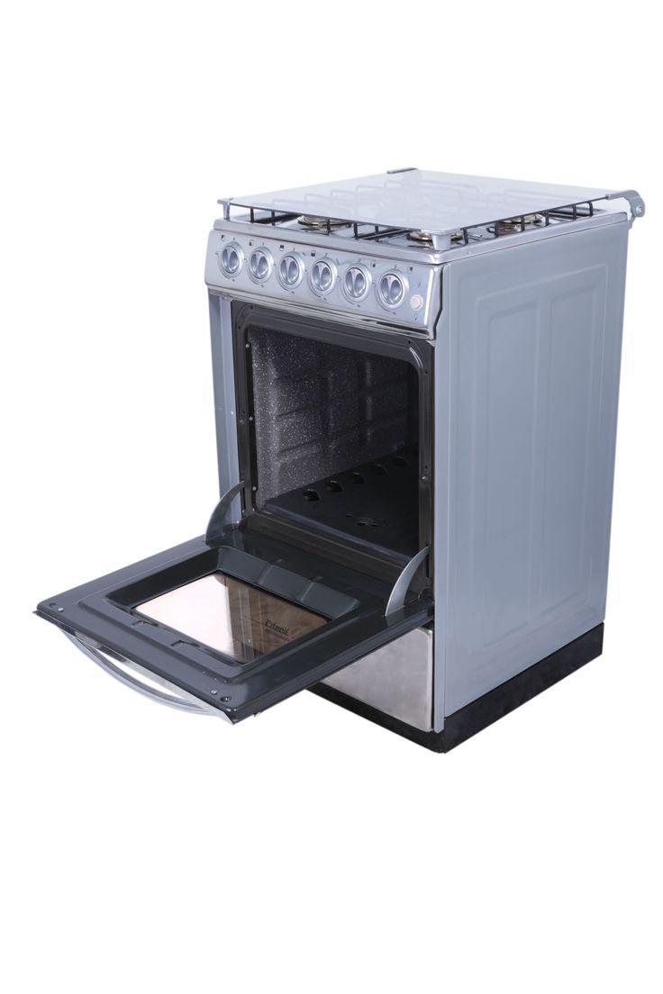 Cocina con horno 4 hornillas Modelo: SUPERSTAR Horno: Con grill, luz y paredes autolimpiantes Encendido electrónico en hornillas Incorpora secaplatos