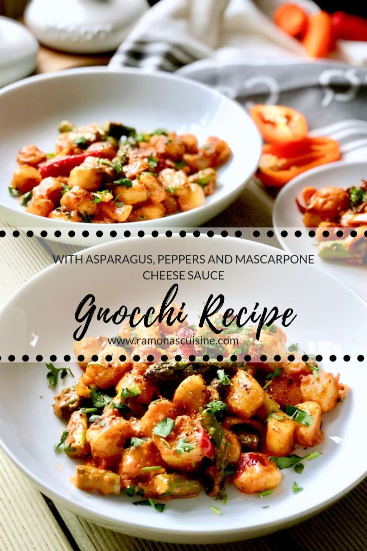 Gnocchi Recipe With Asparagus Peppers And Mascarpone Cheese Sauce