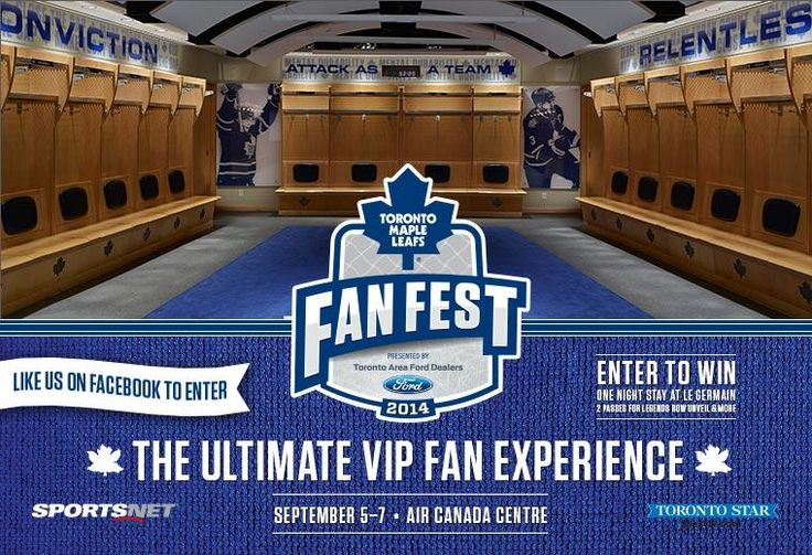 Enter today for your chance to win the Ultimate VIP #Leafs Fan Fest Experience, which includes a stay at Hotel Le Germain, passes to the Legends Row unveiling, Fan Fest and the Ford Friday Night event. Enter here :: http://is.gd/5xM7Pu