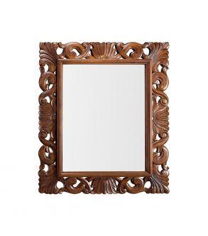 espelho com moldura de madeira entalhada. 110x90 cm