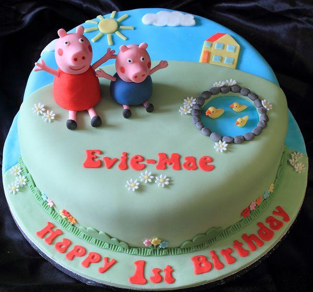 Nd Birthday Caked Peppa Pig George