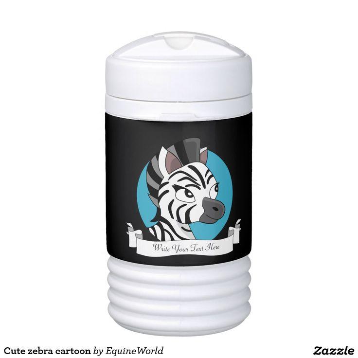 Cute zebra cartoon igloo beverage dispenser