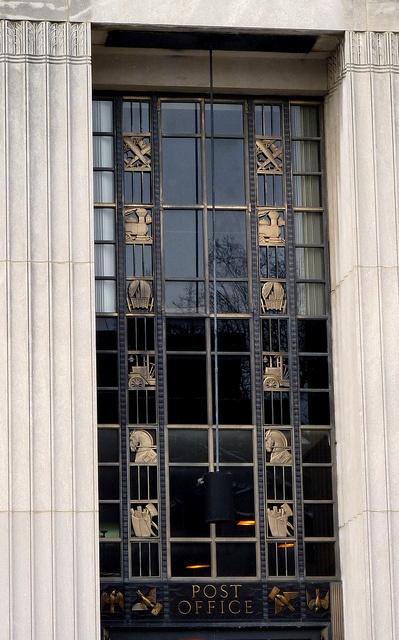 Art Deco window at Oak Park, IL Post Office by yooperann, via Flickr   # Pin++ for Pinterest #