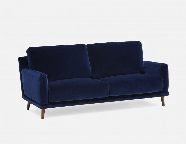 EMILIE - Velvet Sofa - Blue