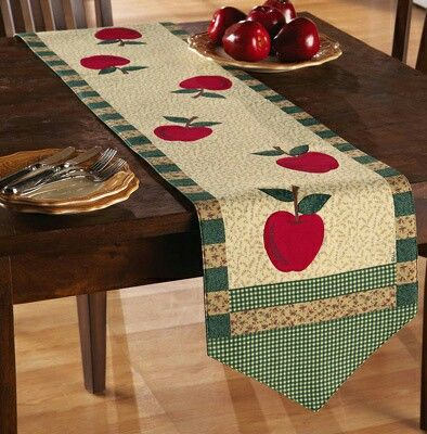 Table runner with yummy apples