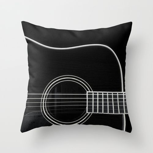 Mod Guitar Throw Pillow - this would make an awesome Father's or Mother's Day Gift!