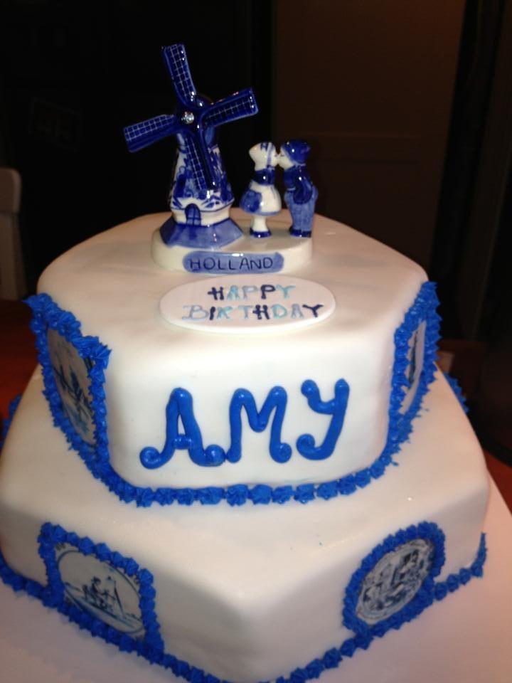 Delft Blue Cake..