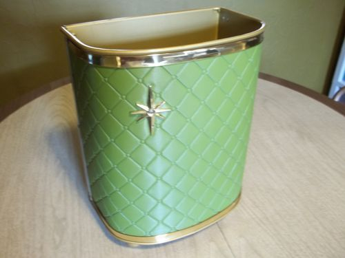 Vintage Mid Century Star Burst Vanity Trash Can Waste Basket | eBay