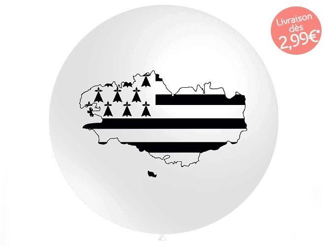 ⇒ Ballon Gonflable Géant - Drapeau Breton / Carte Bretagne