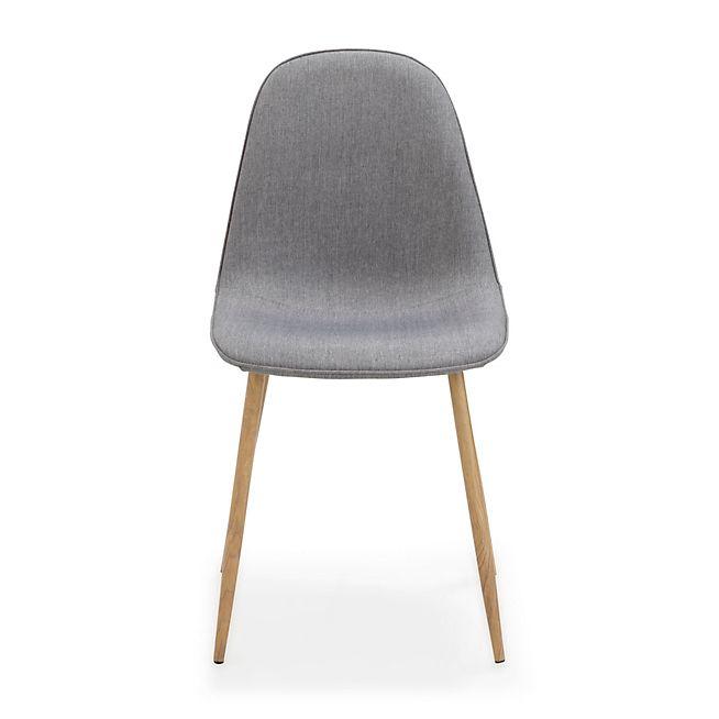 Charlie Chaise revêtue tissu gris