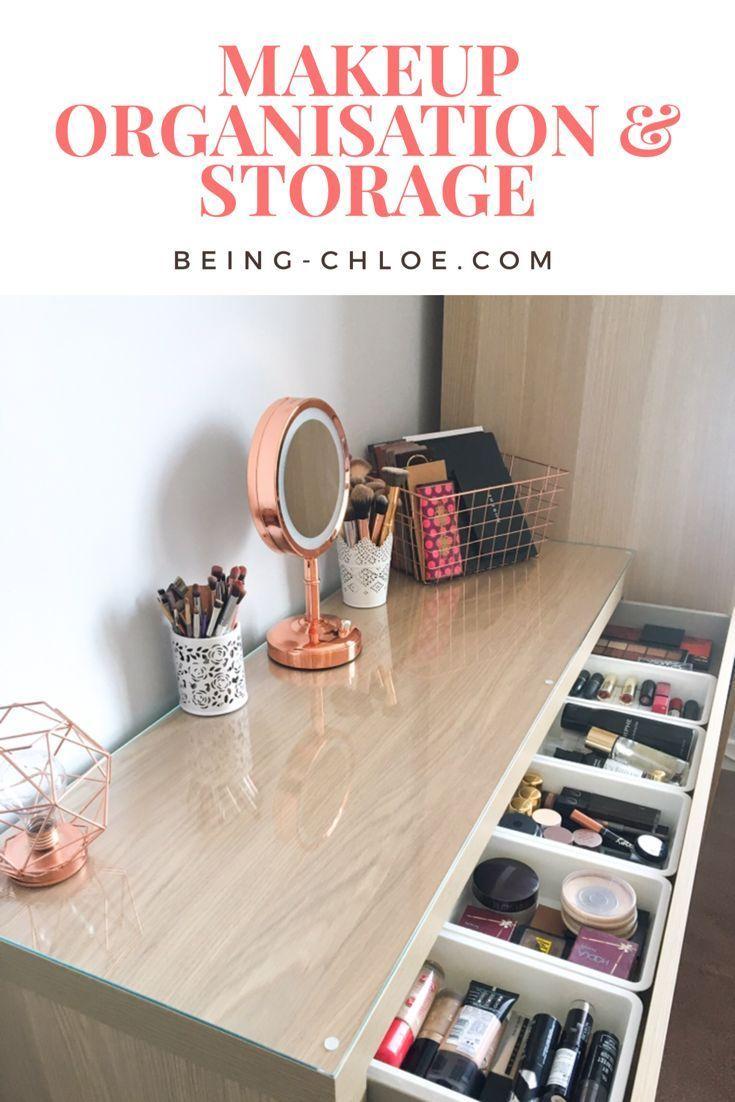 My Makeup Storage Featuring The Ikea Malm Dresser Malm Dressing Table Ikea Malm Dressing Table Ikea Malm