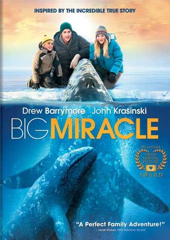 """""""The Big Miracle"""" (film) (2012) The film """"Big Miracle"""" (107 min) is based on true events. The movie depicts the work of a Greenpeace volunteer who travels to a small town in Alaska after learning that a family of three Gray Whales is trapped under ice in the Arctic Circle."""