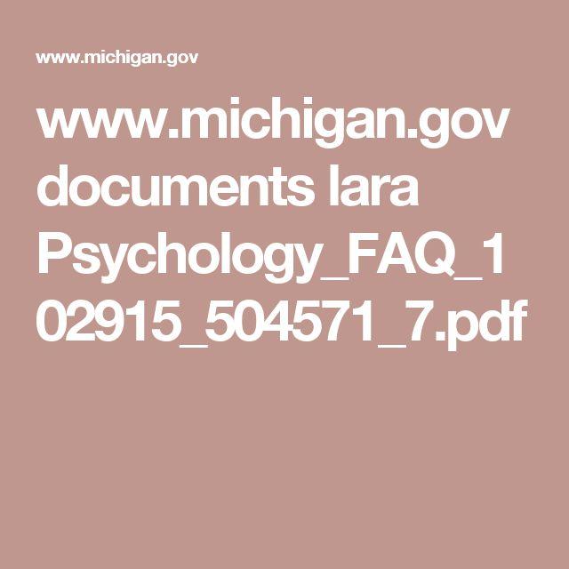 www.michigan.gov documents lara Psychology_FAQ_102915_504571_7.pdf